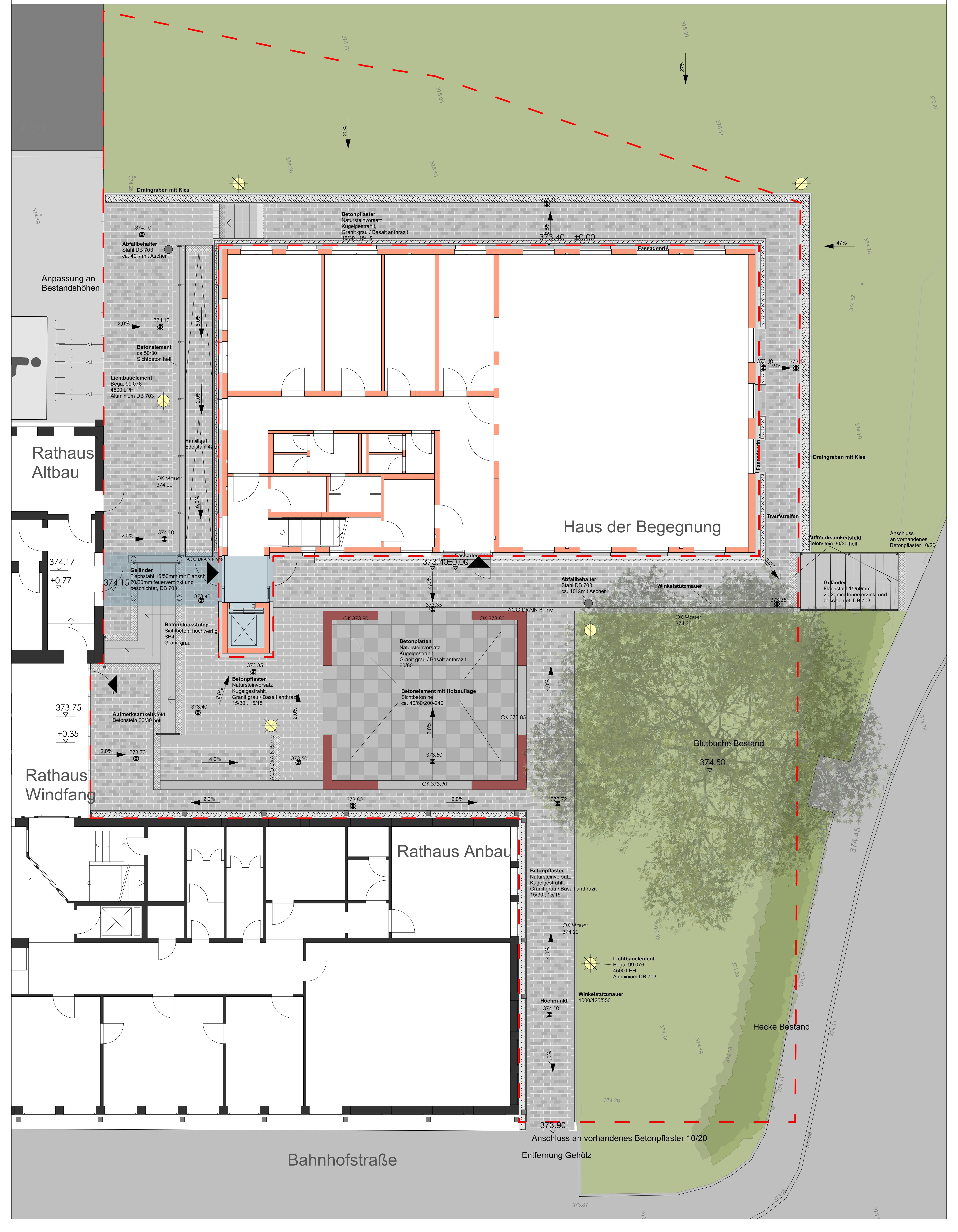 Hof der Begegnung- Entwurfsplanung 2018-03-28